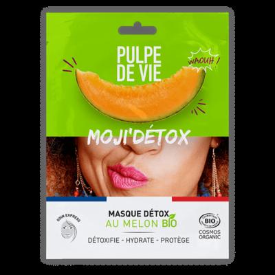 Moji'Détox, masque détox en tissu au melon bio